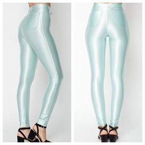 American Apparel Disco Pants Mint